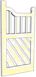 Art Nouveau timber gate