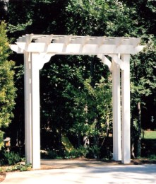 How to build a timber entrance arbor