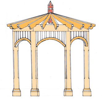 Step by step construction guide for gazebos