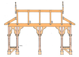 Construction guide for pergolas and pavillions includes templates for federation posts and brackets