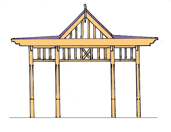 Construction guide for pergolas includes designs, material lists, plans, and step by step manual.