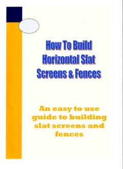 Construction guide for timber slat screen fencing