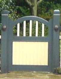Construction guide for decorative timber gates, includes; photos, materials, designs, construction tips and more...