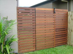 Horizontal slat gates