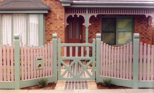 picket fence gate. picket fence gate