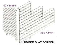 All Day Fencing Horizontal Slat Screens Gates And Fences