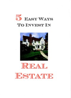 5 easy ways to invest in real estate