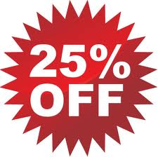 Save 25%, purchase online!