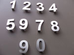 Stainless Steel Slot Mounted House numbers